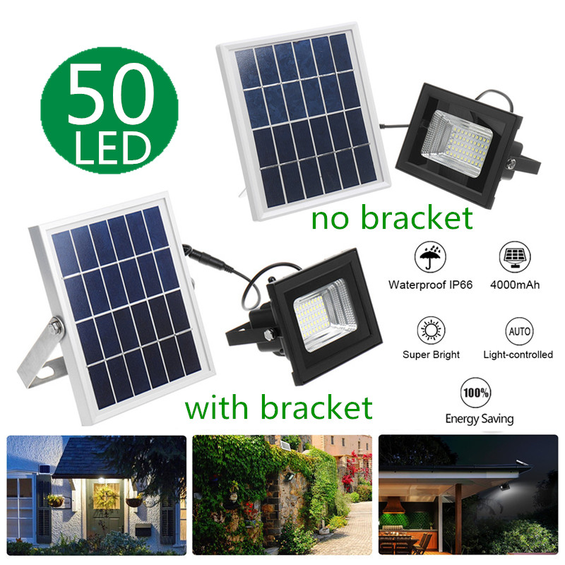 Smuxi LED Floodlights Solar Power Outdoor Garden Lawn Landscape Lamps Waterproof Security Wall Lamps Flood Light +Remote Control|Floodlights| |  - title=