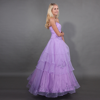 Light Purple Quinceanera Dresses Full Length Embroider Beading Vestido  Quinceanera Debutante Sweet 16 Puffy Princess Ball Gowns