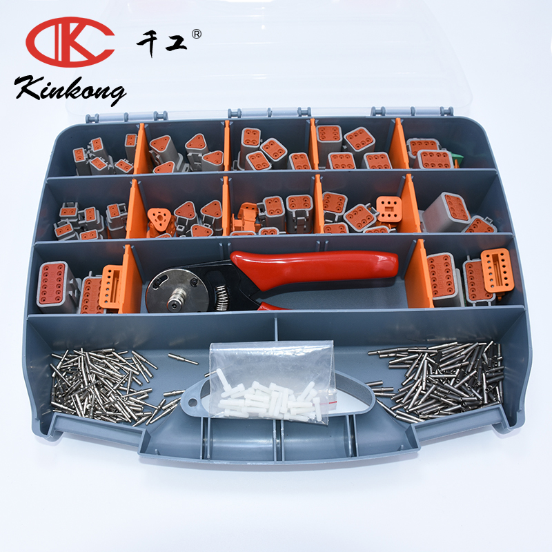 304pcs Grey Deustch DT automotive connectors full Kit 14AWG Solid Contacts crimping tool ACX2941