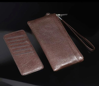 Strap Hand Card Wallet Genuine Cow Leather Mobile Phone Case Pouchs For Doogee Titans2 DG700 X5