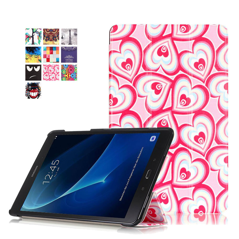 Colorful Painting Tablet PC Protective Case For Samsung Galaxy Tab A 10.1 T580 T585 Capa Flip PU