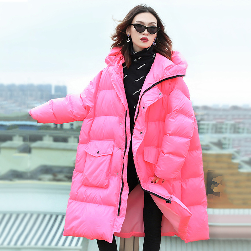 Large Size Women's Clothes 2019 New Arrival Oversized Winter Coat Women Hooded Long Jacket Thicken Warm Cotton Padded Parkas