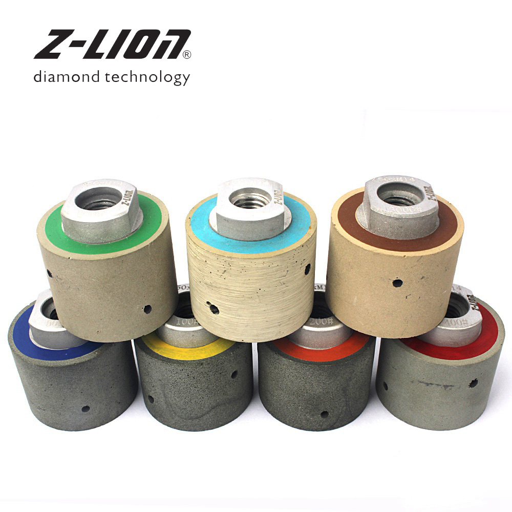 Z-LION 2 Diamond Polishing Drum Wheels 7pcs/Set 50mm Wet Resin Bond Zero Tolerance Polishing Drum Wheel Sink Cutouts Sanding zero tolerance 0630