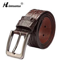 New Product Brand Luxury Retro Pin Buckle Head Layer Cowhide Yellow Belt Leather Belts For Men
