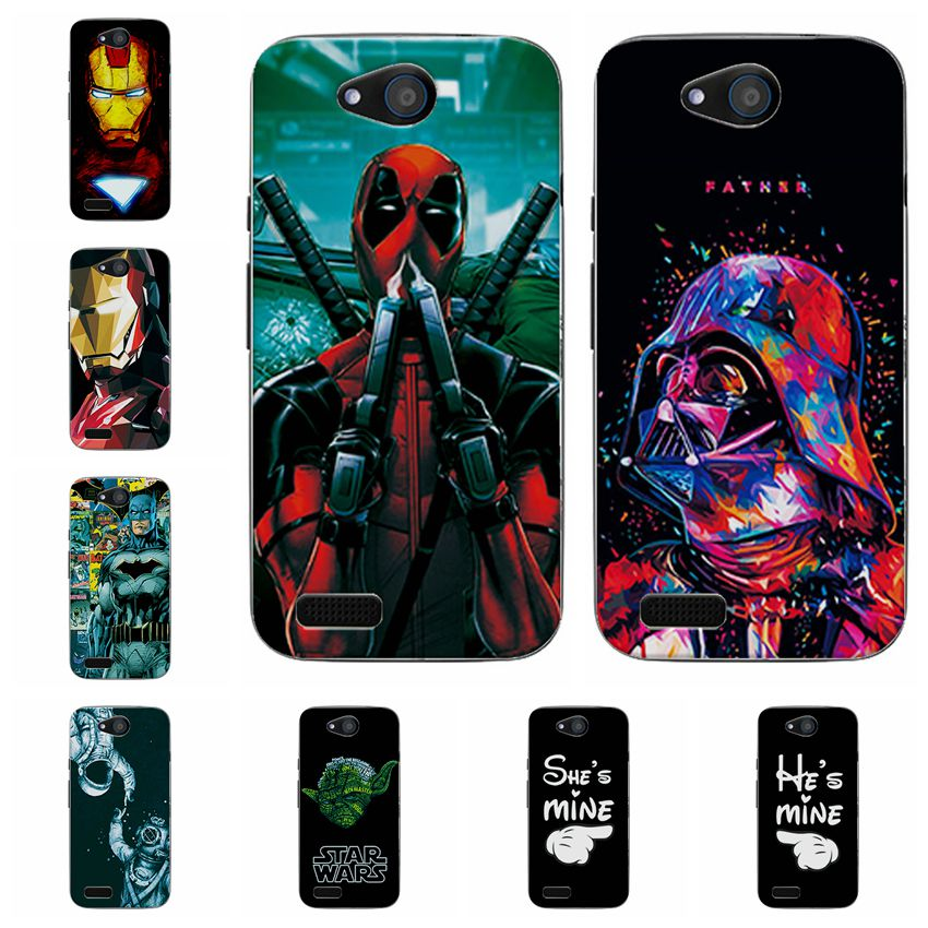 New Charming Fashion Deadpool Case Coque For ZTE Blade GF3 T320 Soft Silicone Cases Fundas For ZTE GF 3 T 320 Back Cover Capa