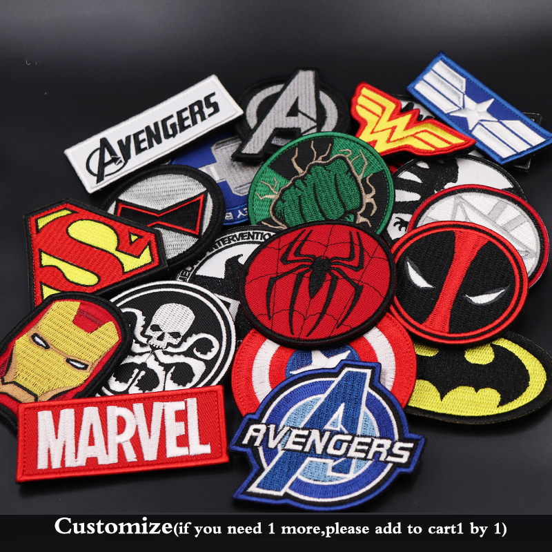 Avengers: Endgame EMBROIDERED PATCH Super Hero Captain America Badges Iron Man Black Widow Clothes Patch Cosplay Accessories