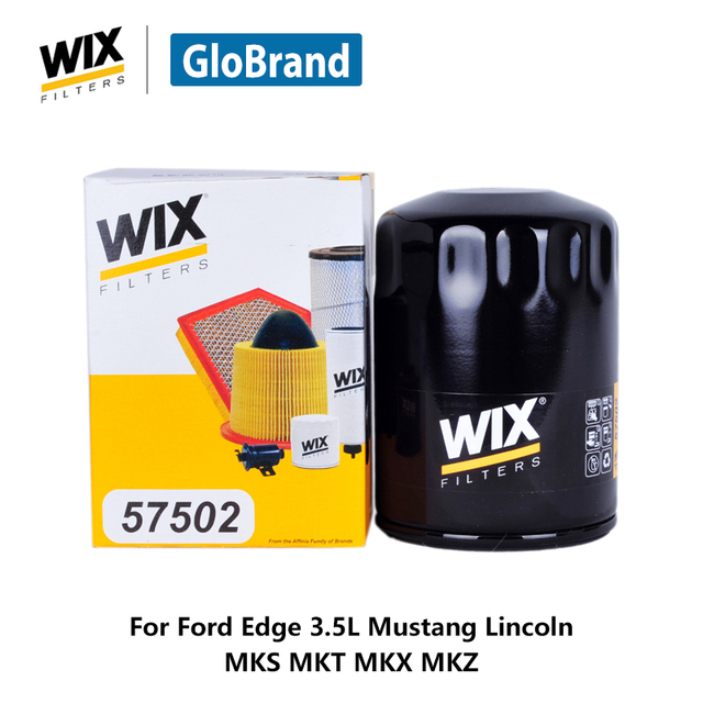 Wix Car Oil Filter  For Ford Edge  L Mustang Lincoln Mks Mkt Mkx Mkz