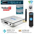DDR4 YOKA KB2 PRO Android 6.0 Octa Núcleo 3G 32G Smart TV caixa S912 4 K H.265 Amlogic Dual Band Wi-fi Bluetooth 4.0 Streaming De Jogador