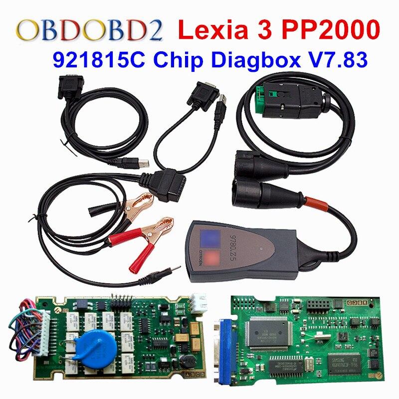 Lexia 3 Full Chip V7.83 Firmware Lexia3 PP2000 V48 Diagnostic For Citroen For Peugeot  921815C Full Chips Gold Edge Lexia3 PP200 lexia 3 pp2000 diagbox 7 65 full chip 921815c for lexia3 citroen peugeot diagnostic tool lexia 3