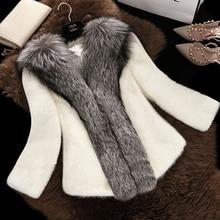 New 2018 Winter Mink Fur Coat Female Hight Quality Warm Jacket Fox Fur Hooded
