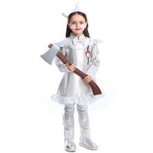 Umorden Child Kids Wizard of Oz Tin Man Cosplay Costumes for Girls Teen Girl Halloween Role Play Mardi Gras