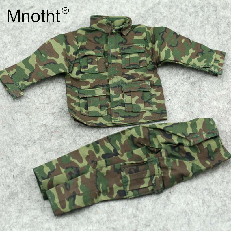 Mnotht 1/6 Scale Action Figure Clothes Male Camouflage uniform Combat suit Clothes For 12in Action Figures Male Soldier Clothes 1 6 scale camouflage suit fg015 desert