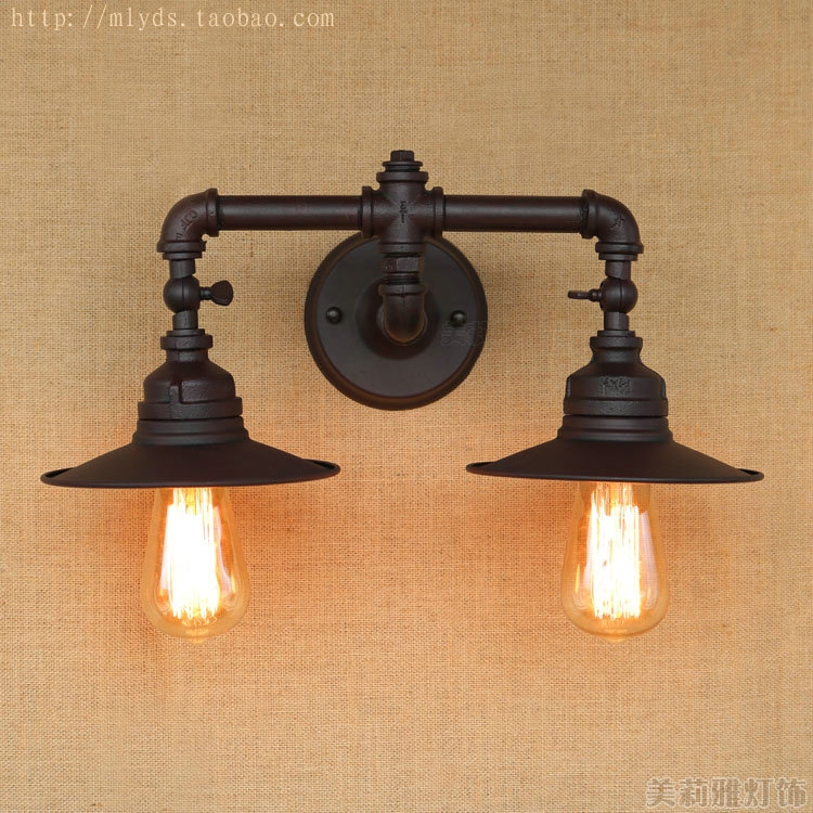 American Retro Loft Industrial Wall Lamp Pipe Vintage With