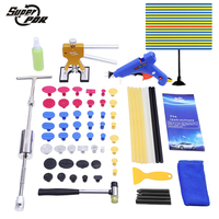 Paintless Dent Repair PDR Tools body dent removal Tools Kit Slide Hammer pulling bridge Glue Gun glue sticks hand tools set