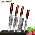 YARENH 4 pcs damasco coltello da cucina set Giapponese VG10 set di coltelli professionali chef santoku nakiri utility coltello combinazione set
