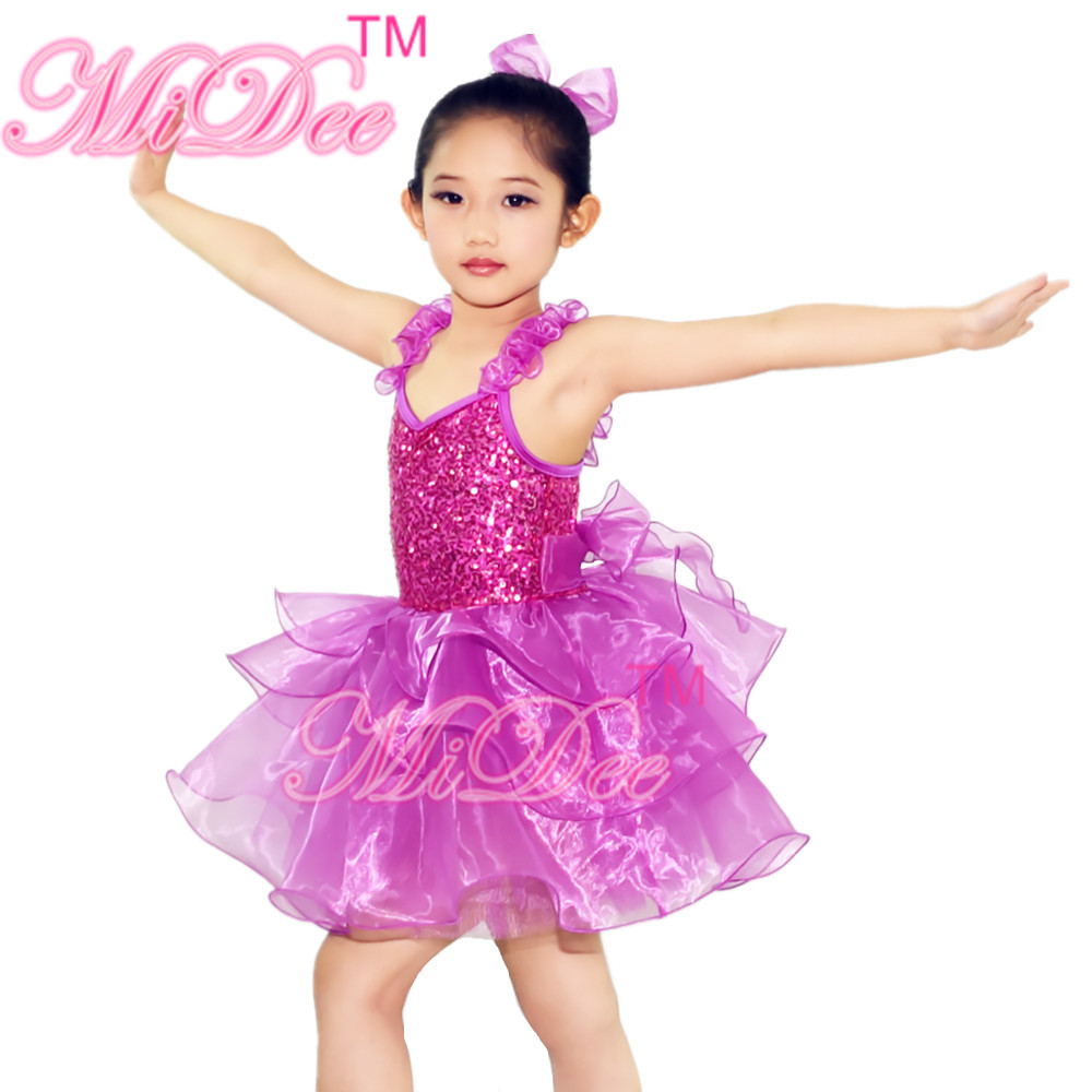 Dresses Skirts Clothes Women Disney Store - Fuchsia girls flower camisole ballerina dresses tiered ballet tutu skirt sequins leotard dance dress for girls