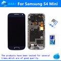 Para samsung galaxy s4 mini i9190 i9192 i9195 display lcd touch screen + montagem do quadro preto/branco/azul substituição lcd