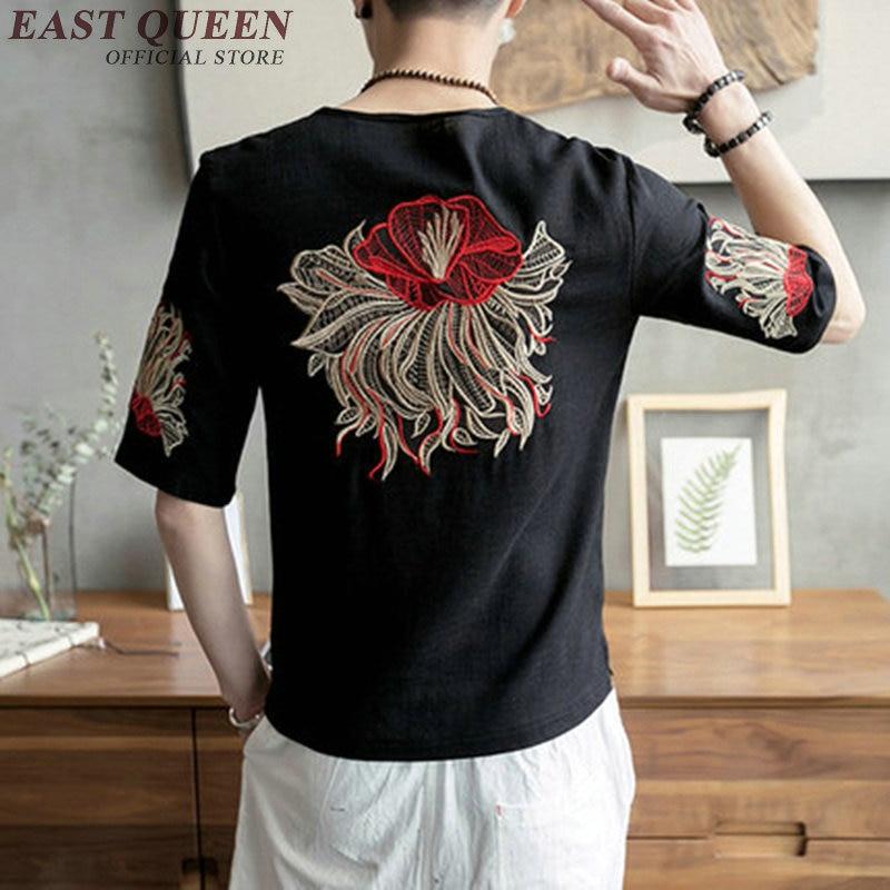 Traditional Chinese clothing for font b men b font vintage printed t font b shirt b