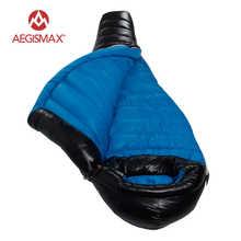 Aegismax Lengthened Thicken Mummy Sleeping Bag White Goose Down Ultralight Camping Splicing G1,G2,G3 Saco de dormir