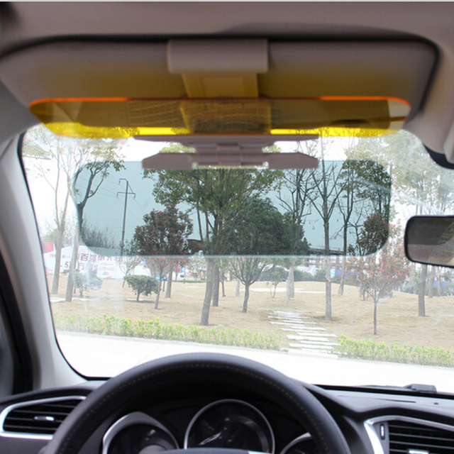 buy 2016 car sun visor goggles for driver day night anti dazzle mirror sun. Black Bedroom Furniture Sets. Home Design Ideas