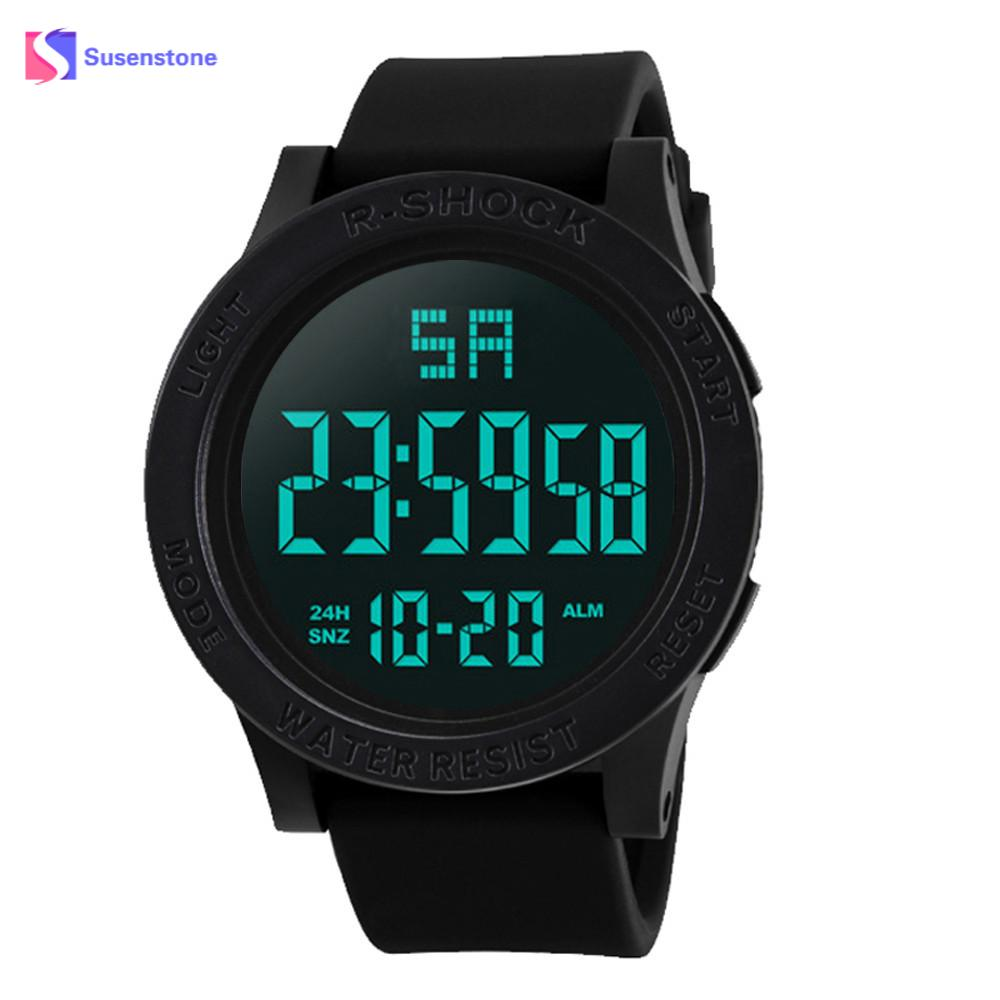 Fashion Brand Man's Waterproof Men's Boy LCD Digital Stopwatch Date Rubber Sport Wrist Watch Sports Wristwatch Hours Male Clock drop shipping gift boys girls students time clock electronic digital lcd wrist sport watch july12