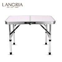 Mesa de dobramento de alumínio do portátil cama mesa ajustável mesas ao ar livre churrasco portátil leve simples à prova de chuva para piquenique de acampamento|Mesas externas| |  -