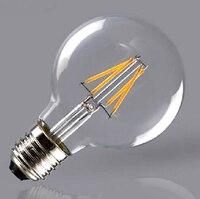 Free Shipping G95 G125 4W 6W Incandescent Vintage Bulb E27 Globe Retro Edison Light Bulb 220V