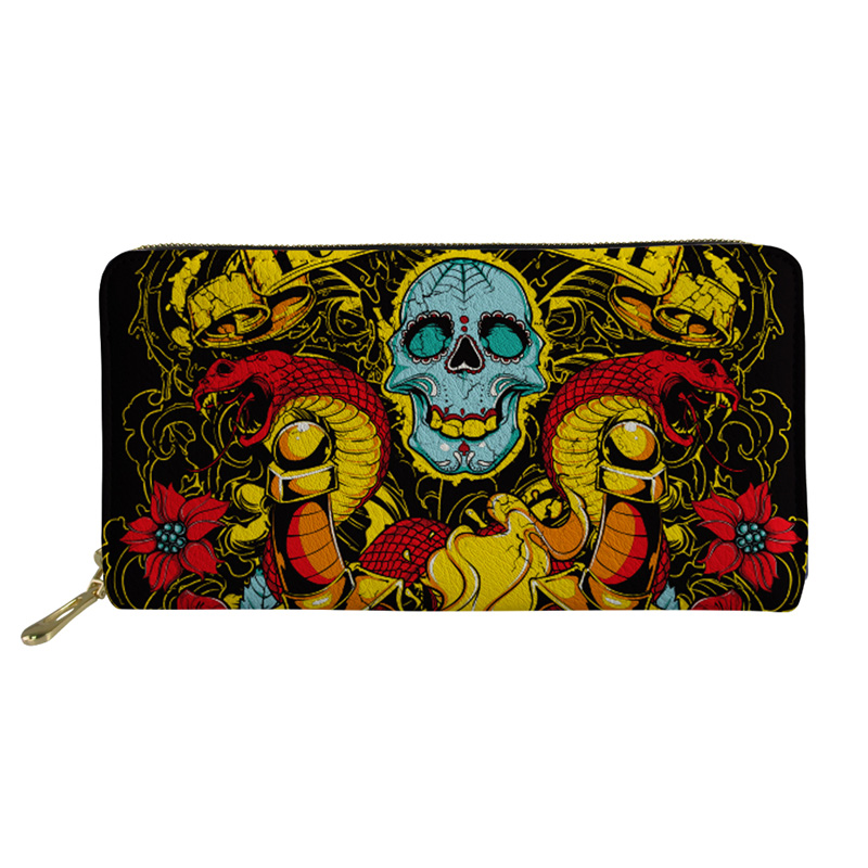 Noisydesigns Women Wallet Men Purse Skull Coin Purses&Holders Boy Mini Rfid PU Leather Wallets Female Purses&Wallets Coin Purse