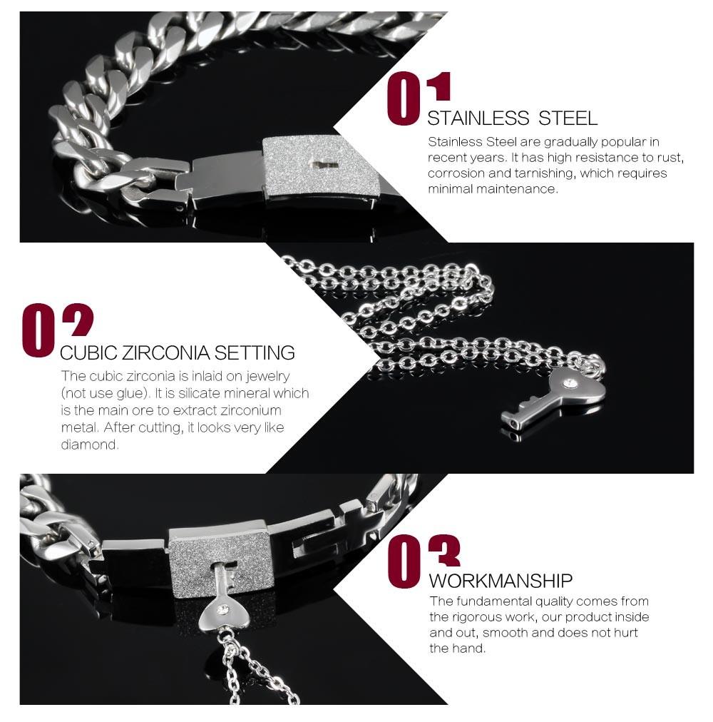 Naiste kaelakee ja meeste käevõru komplekt