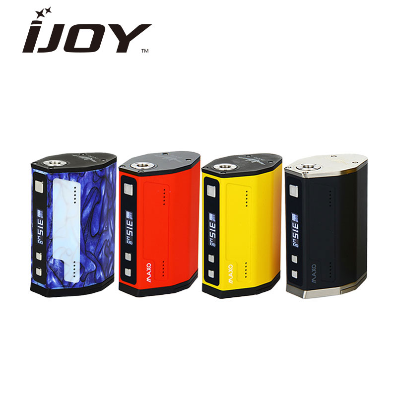 Original 315W IJOY MAXO QUAD TC BOX MOD Drivs av 18650 Batteri Firmware Upgradable för RDA RTA Atomizer E-Cigarette Enorma Ström