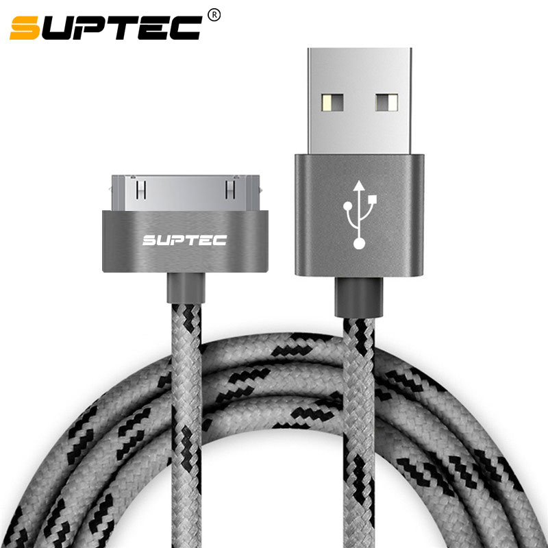 SUPTEC 30 Pin USB Cable for iPhone 4S 4 3GS iPad 1 2 3 iPod Nano itouch Charger Cable 2M 3M Fast Charging Data Sync Adapter Cord(China)