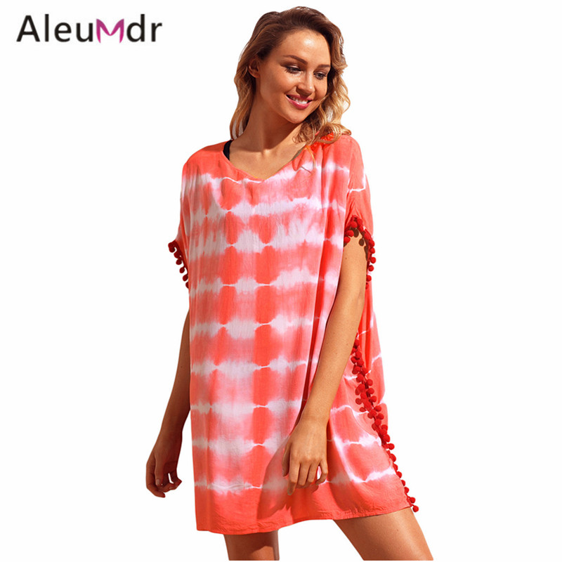 24a3cd1787 Aleumdr Summer swimwear 2018 new Print Swimsuit cover ups dress Women Beach  wear LC42259 sexy swim wear vestido USD 12.12/piece