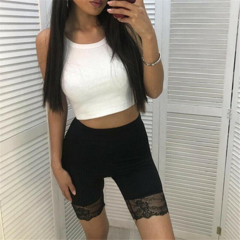 2019 Multicolor Lace Stitching   Leggings   Women Lace Skirts Skirt Under Pants Seamless short Female