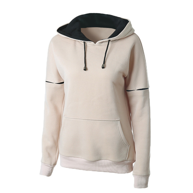 New 2017 Autumn Winter Women Casual Solid Hoodies Unisex Lapel Hooded Female Sweatshirts Long Sleeve Pullovers Winter Tops