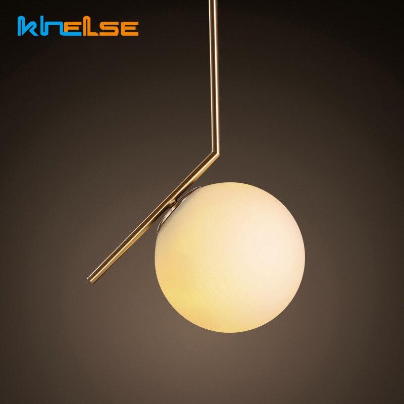 купить Modern Nordic Minimalist Loft Living Room Pendant lights Restaurant Bedroom Beside Decor AC 90-260V E27 Glass Ball Pendant Lamp по цене 3535.87 рублей