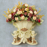 European decorative wall hangings wall hangings creative decorations hanging wall vase floral combination