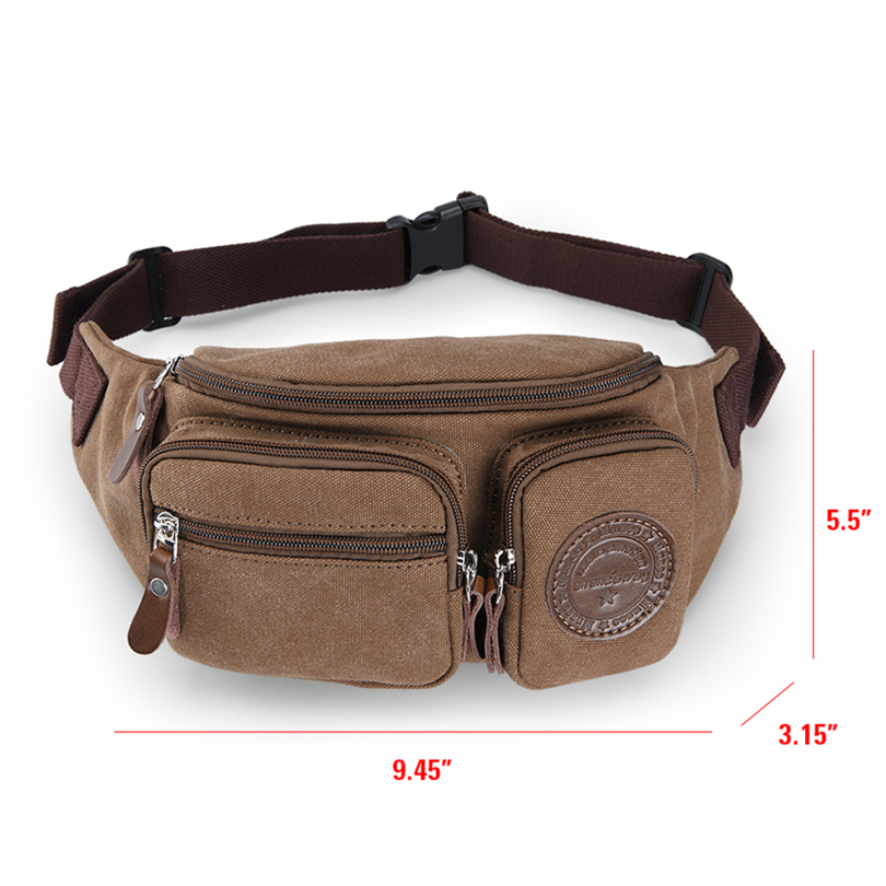 Muzee Men Canvas Waist Väska Pack Purse Money Phone Bälte väska - Bälten väskor - Foto 2
