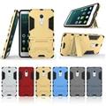 Para xiaomi red 4 nota4 teléfono casos de protección de la armadura de iron man robot shell case para m4 mi4 xiomi 2 en 1 combo cubierta con soporte