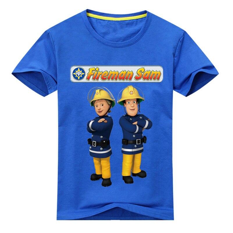 Children Summer T Shirt Boy New 3D Fireman Sam Print Design T-shirts For Girls Clothes Kids Short Sleeve Tee Tops Clothing DX031