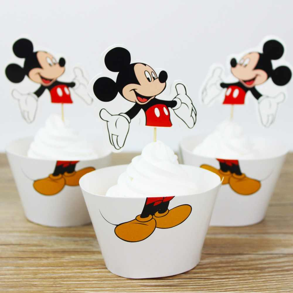 24pcs Mickey Mouse Baby Shower Party Ideas Cake Decorating