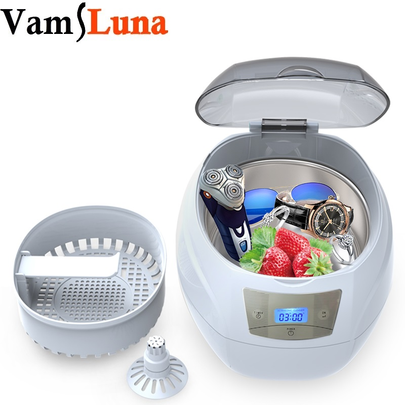 Ultrasonic Bath Cleaner 750ML for Cleaning Nail tools Eyeglasses font b Watches b font Rings Necklaces