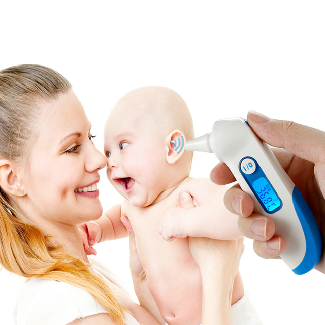 New Home Human Adult Baby Body Electronic Thermometer measure the fever, blue backlight, thermometer Digital Babies Thermometers
