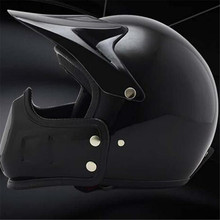 motorcycle helmet open vintage motorbike personality face retro racing  free shpping Mate Black