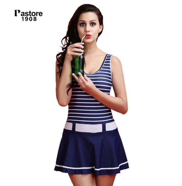 1399d6197d 2017 Femme un morceaux maillots de bain avec Jupe robe De Natation maillot  de bain avec