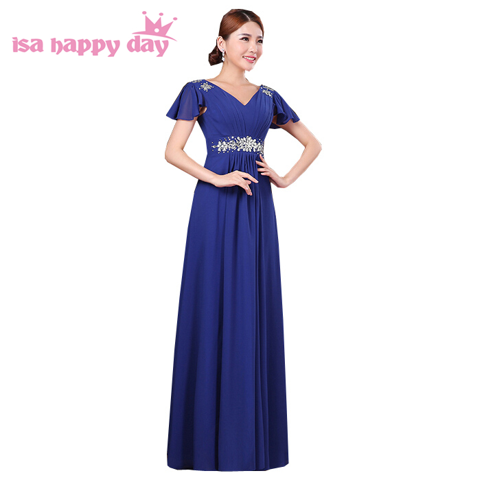 vestidos formales dress party evening elegant formal mother of the bride blue purple dresses women 2018 european style W3328
