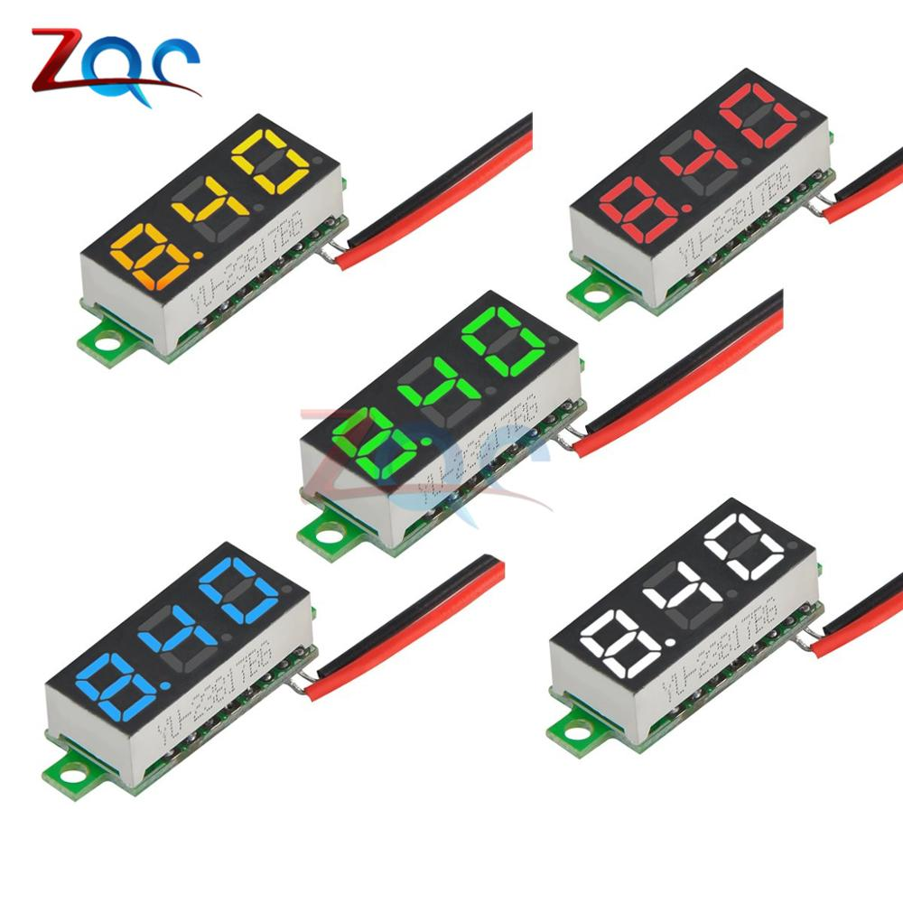 0.28'' 2.5V-30V 12V 24V Mini LED DC Digital Voltmeter Voltage Meter Panel Volt Tester Detector Monitor 2 Wires Auto Car Mobile