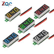 Мини светодиодный цифровой вольтметр постоянного тока 0,28 дюйма 2,5-30 в 12 В 24 В измеритель напряжения Панель Вольт тестер детектор монитор 2 пр...