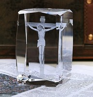 BEST Christmas birthday present limited edition TOP Decor art Christ Jesus the cross 3D Crystal Image Decoration