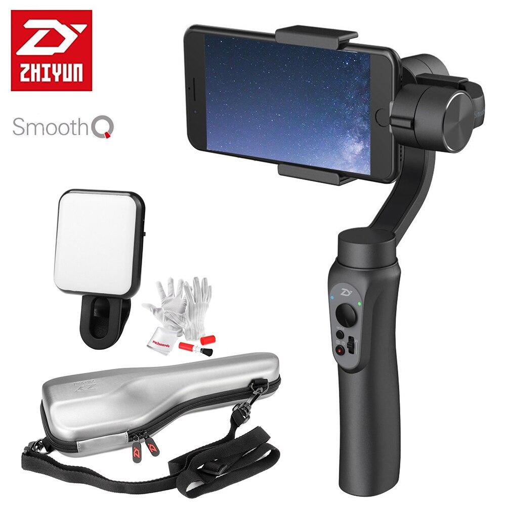 Prix pour En Stock Zhiyun LISSE Q 3-Axis De Poche Smartphone Cardan Stabilisateur VS zhiyun lisse iii modèle pour iphone 7 plus samsung s7 s6