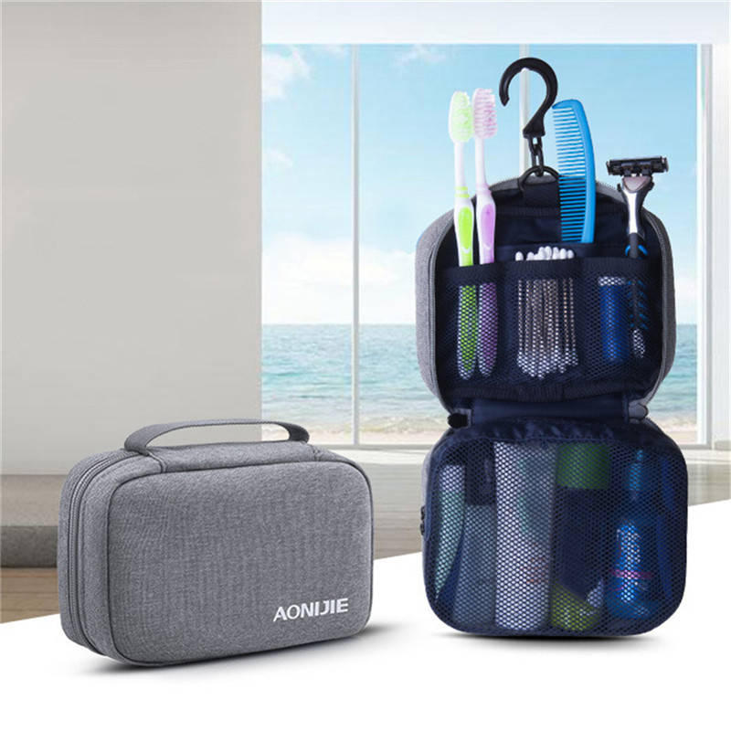 Outdoor Sports Gym Travel Polyester Waterproof Washing Bag Portable Storage Bath Bag Toiletry Makeup Cosmetic Bag